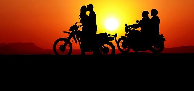 láska motorkářů